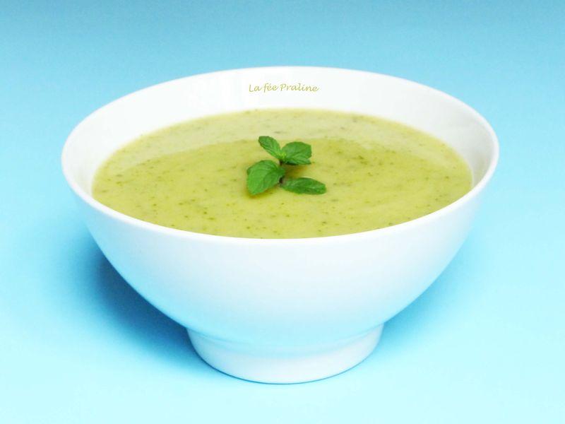 soupe à la courgette